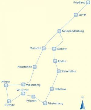 Wasserwandern Mecklenburgische Seenplatte Karte.Pilgerweg Kleinseenplatte Rund Um Mirow Und Wesenberg